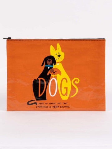 DOGS. Here To Remind You That Everything Is Very Exciting Jumbo Pouch