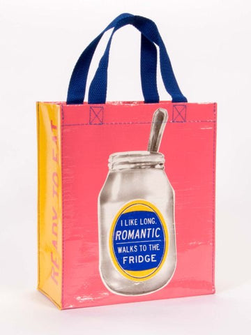 I Like Romantic Long Walks To The Fridge Handy Tote