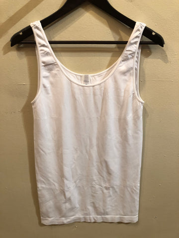 White Plus Tank Top