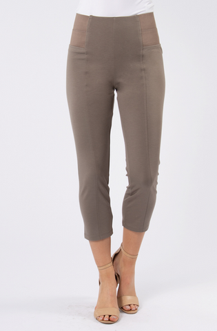 Cropped Pant- Taupe