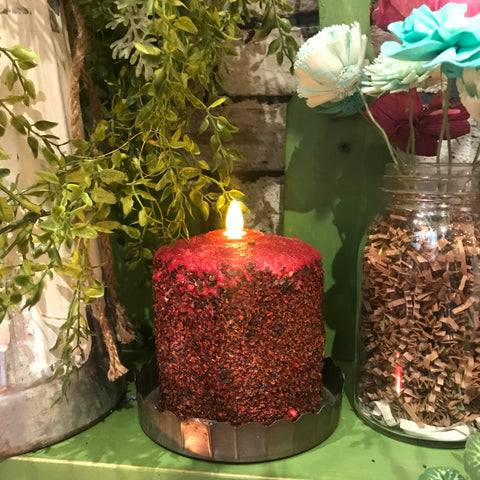 Homespun Harvest LED Hearth Candle