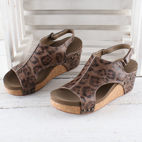 Corkys Distressed Leopard Carley Sandals