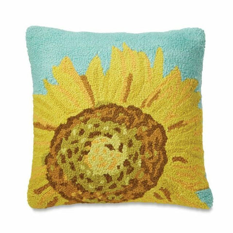 Sunflower Hooked Pillow