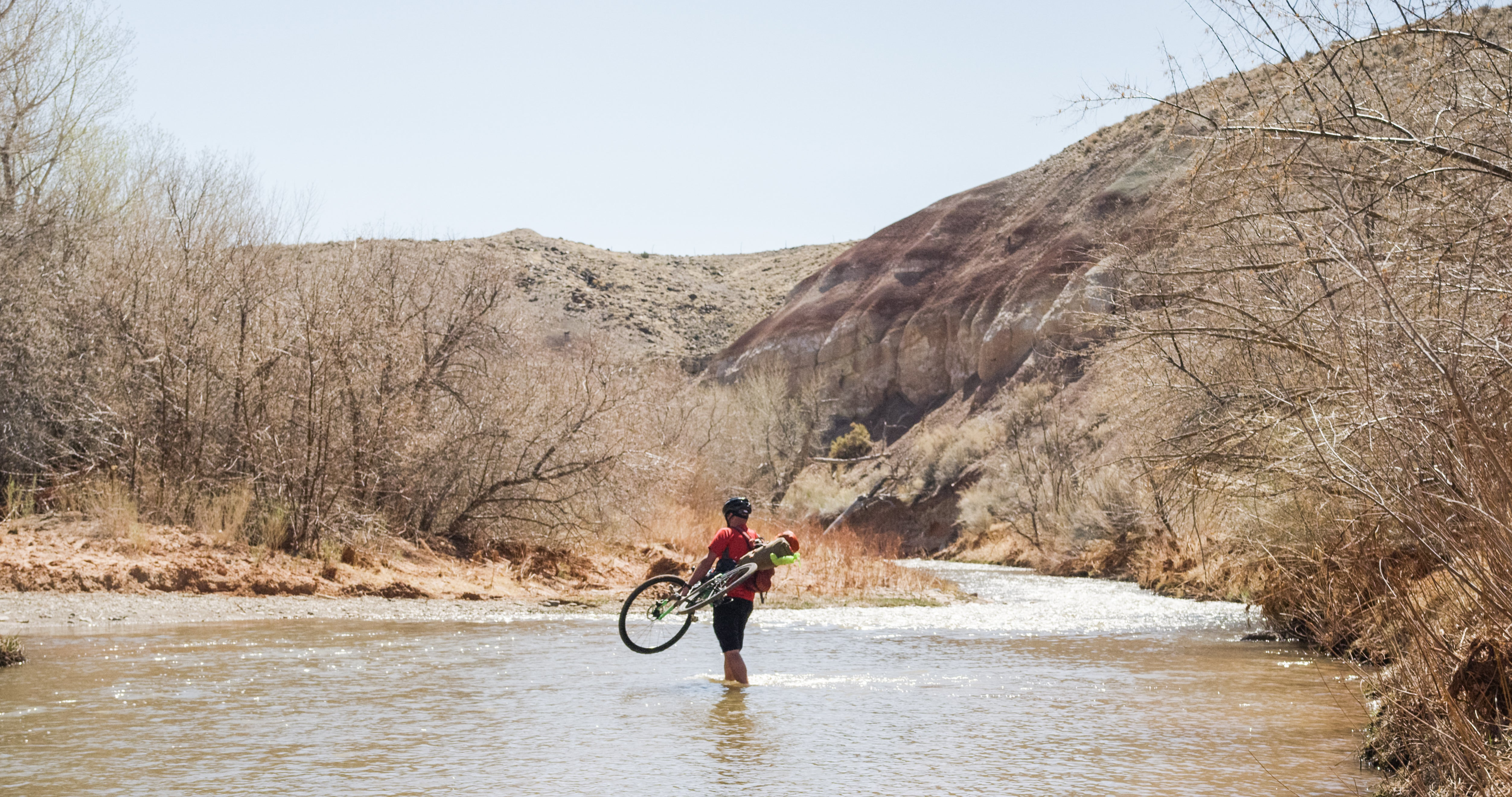 Cathedral Valley Bikepacking River Crossing Fremont River