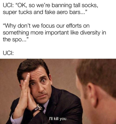 cycling apparel, thread and spoke, Cold weather, t-shirts, biking shirts, UCI rule changes, UCI cycling, cycling meme