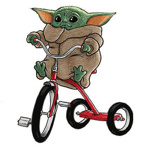 Baby Yoda's TricycleThread+Spoke - THREAD+SPOKE | MTB APPAREL | ROAD BIKING T-SHIRTS | BICYCLE T SHIRTS |