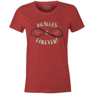 Bicycles Forever Women'sDustin Fritz - THREAD+SPOKE | MTB APPAREL | ROAD BIKING T-SHIRTS | BICYCLE T SHIRTS |
