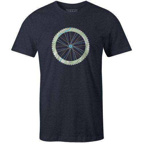 Topographical TireJordon Mazziotti - THREAD+SPOKE | MTB APPAREL | ROAD BIKING T-SHIRTS | BICYCLE T SHIRTS |