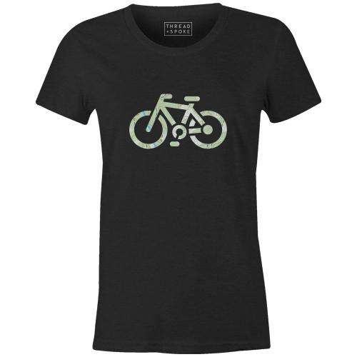 Topographical Bike Women'sJordon Mazziotti - THREAD+SPOKE | MTB APPAREL | ROAD BIKING T-SHIRTS | BICYCLE T SHIRTS |