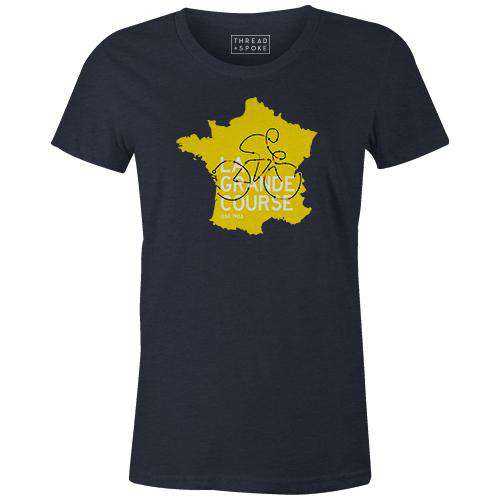 La Grande Course Women'sReigedesign - THREAD+SPOKE | MTB APPAREL | ROAD BIKING T-SHIRTS | BICYCLE T SHIRTS |