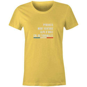 Tour Climbs Women'sThread+Spoke - THREAD+SPOKE | MTB APPAREL | ROAD BIKING T-SHIRTS | BICYCLE T SHIRTS |