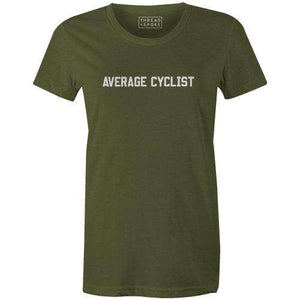 Average Cyclist Women'sThread+Spoke - THREAD+SPOKE | MTB APPAREL | ROAD BIKING T-SHIRTS | BICYCLE T SHIRTS |