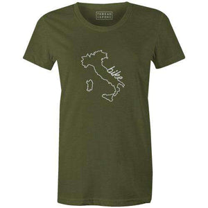 Bike Italy Women'sThread+Spoke - THREAD+SPOKE | MTB APPAREL | ROAD BIKING T-SHIRTS | BICYCLE T SHIRTS |