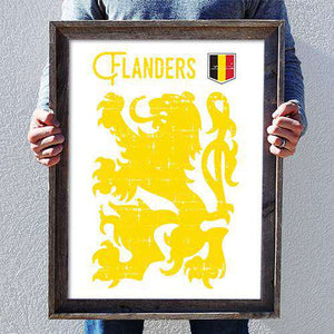 Flanders PosterThread+Spoke - THREAD+SPOKE | MTB APPAREL | ROAD BIKING T-SHIRTS | BICYCLE T SHIRTS |