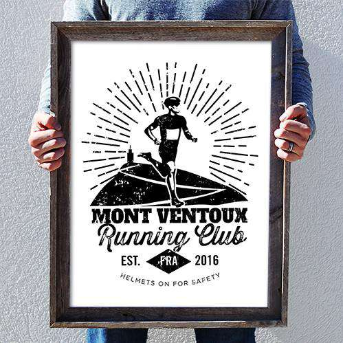 Mont Ventoux Running Club PosterThread+Spoke - THREAD+SPOKE | MTB APPAREL | ROAD BIKING T-SHIRTS | BICYCLE T SHIRTS |