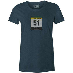 51 Merckx Women'sBICI - THREAD+SPOKE | MTB APPAREL | ROAD BIKING T-SHIRTS | BICYCLE T SHIRTS |