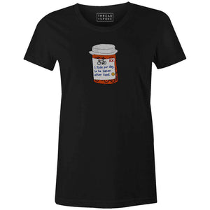 Biking Pills Women'sA Quiet Bird - THREAD+SPOKE | MTB APPAREL | ROAD BIKING T-SHIRTS | BICYCLE T SHIRTS |