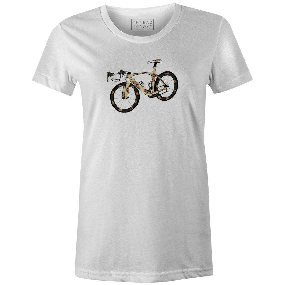 Cookie Bike Women'sA Quiet Bird - THREAD+SPOKE | MTB APPAREL | ROAD BIKING T-SHIRTS | BICYCLE T SHIRTS |