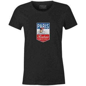 Paris Roubaix Badge Women'sThread+Spoke - THREAD+SPOKE | MTB APPAREL | ROAD BIKING T-SHIRTS | BICYCLE T SHIRTS |