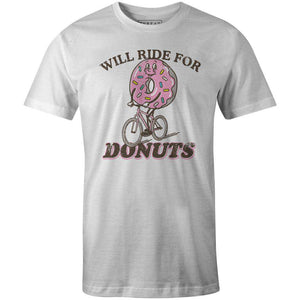 Men's T-shirt - Will Ride for Donuts