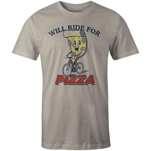 Men's T-shirt - Will Ride for Pizza