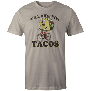 Men's T-shirt - Will Ride for Tacos