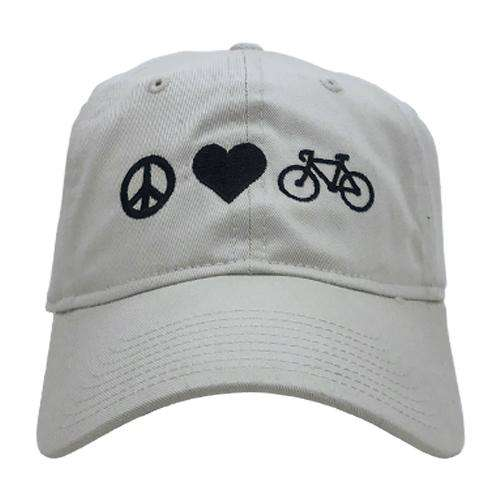 2779626f60518 Peace Love Bicycles Hat  Peace Love Bicycles Hat ...
