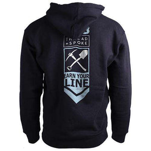 Earn Your Line HoodieThread+Spoke - THREAD+SPOKE | MTB APPAREL | ROAD BIKING T-SHIRTS | BICYCLE T SHIRTS |