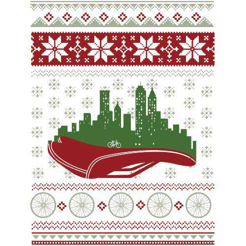Christmas in the City SweaterMackenzie McKinney - THREAD+SPOKE | MTB APPAREL | ROAD BIKING T-SHIRTS | BICYCLE T SHIRTS |