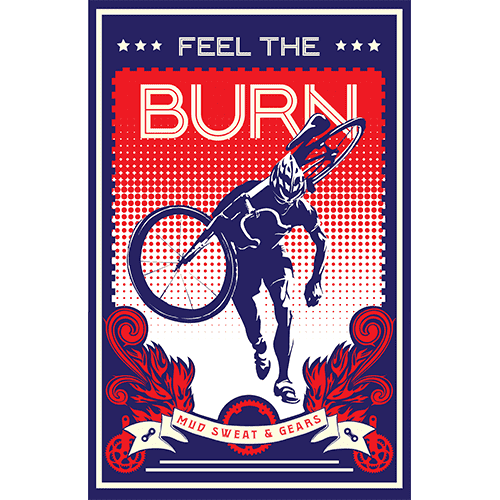 Feel the BurnSassan Filsoof - THREAD+SPOKE | MTB APPAREL | ROAD BIKING T-SHIRTS | BICYCLE T SHIRTS |