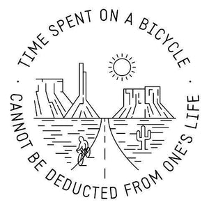 Time Spent On a BikeThread+Spoke - THREAD+SPOKE | MTB APPAREL | ROAD BIKING T-SHIRTS | BICYCLE T SHIRTS |