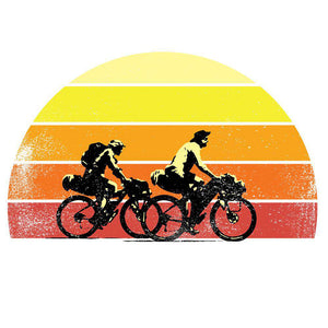 Riding Into the SunsetThread+Spoke - THREAD+SPOKE | MTB APPAREL | ROAD BIKING T-SHIRTS | BICYCLE T SHIRTS |