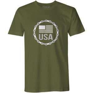USA BadgeKimball Henneman - THREAD+SPOKE | MTB APPAREL | ROAD BIKING T-SHIRTS | BICYCLE T SHIRTS |