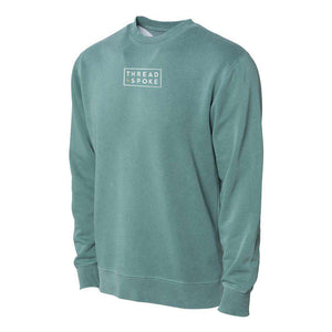 T+S Logo Crewneck Sweater Alpine GreenThread+Spoke - THREAD+SPOKE | MTB APPAREL | ROAD BIKING T-SHIRTS | BICYCLE T SHIRTS |