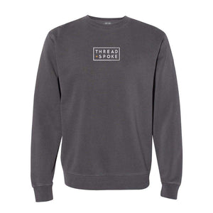 T+S Logo Crewneck Sweater BlackThread+Spoke - THREAD+SPOKE | MTB APPAREL | ROAD BIKING T-SHIRTS | BICYCLE T SHIRTS |