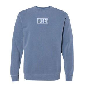 T+S Logo Crewneck Sweater Slate BlueThread+Spoke - THREAD+SPOKE | MTB APPAREL | ROAD BIKING T-SHIRTS | BICYCLE T SHIRTS |