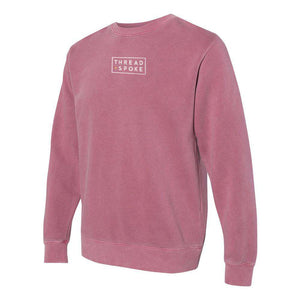 T+S Logo Crewneck Sweater MaroonThread+Spoke - THREAD+SPOKE | MTB APPAREL | ROAD BIKING T-SHIRTS | BICYCLE T SHIRTS |