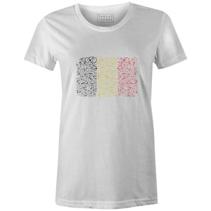Bikes of Belgium Women'sJordon Mazziotti - THREAD+SPOKE | MTB APPAREL | ROAD BIKING T-SHIRTS | BICYCLE T SHIRTS |