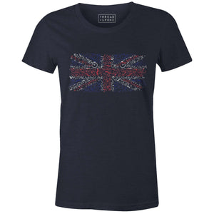 Bikes of Great Britain Women'sJordon Mazziotti - THREAD+SPOKE | MTB APPAREL | ROAD BIKING T-SHIRTS | BICYCLE T SHIRTS |