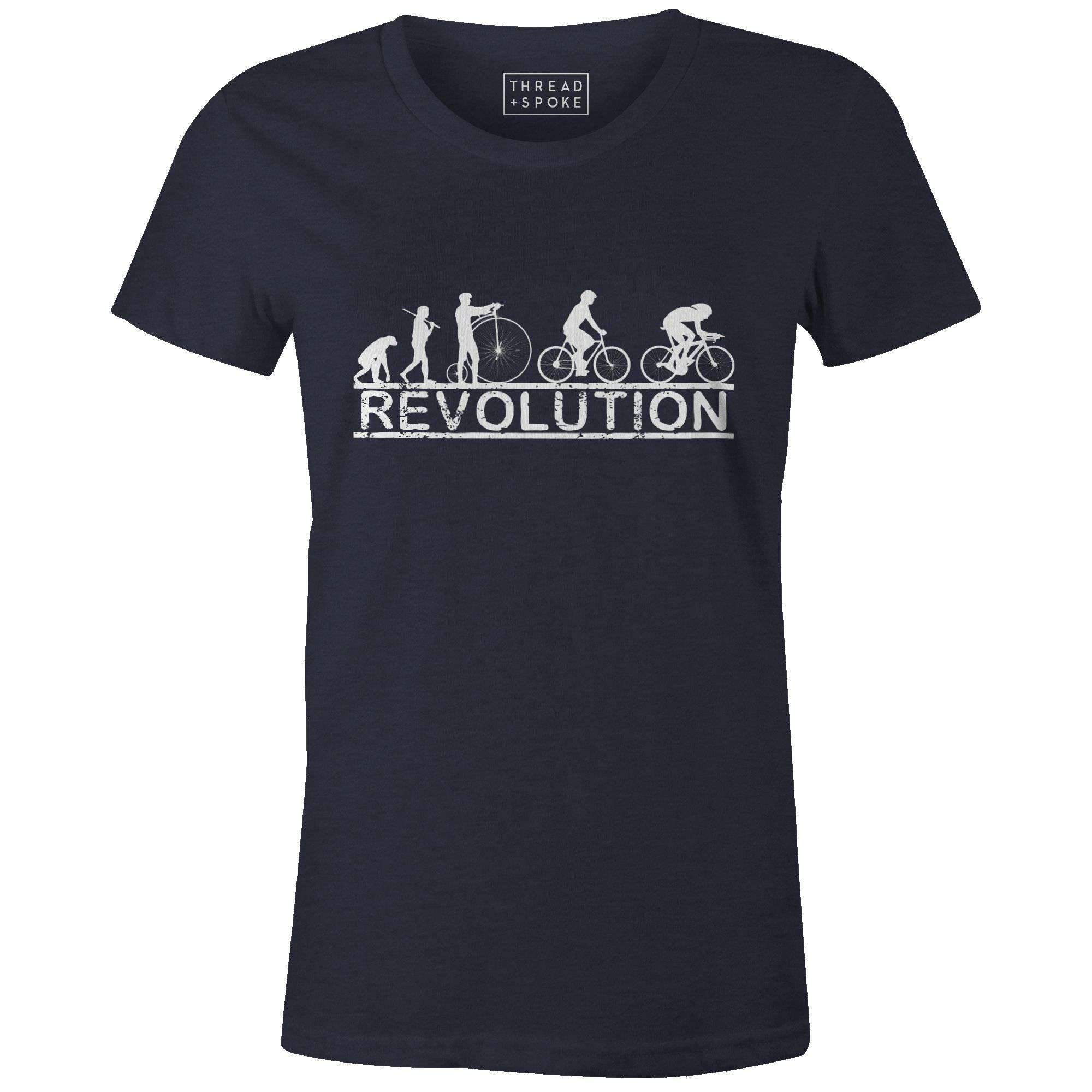 Cycling Revolution Women'sMile24 - THREAD+SPOKE | MTB APPAREL | ROAD BIKING T-SHIRTS | BICYCLE T SHIRTS |
