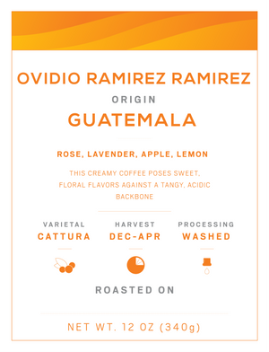 Ovidio Ramirez Guatemala | Eccentricity Coffee Co.