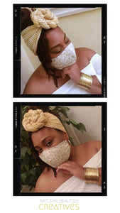 Golden Mask & Wrap Set