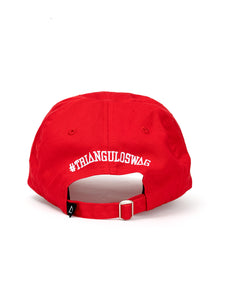 DISTRESS DAD HAT RED - WHITE Lil MAN - Triangulo Swag