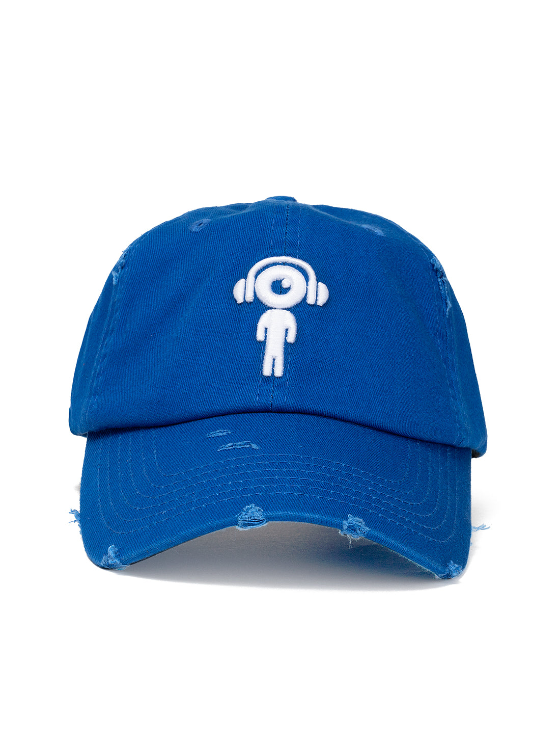 DISTRESS DAD HAT BLUE - WHITE Lil Man