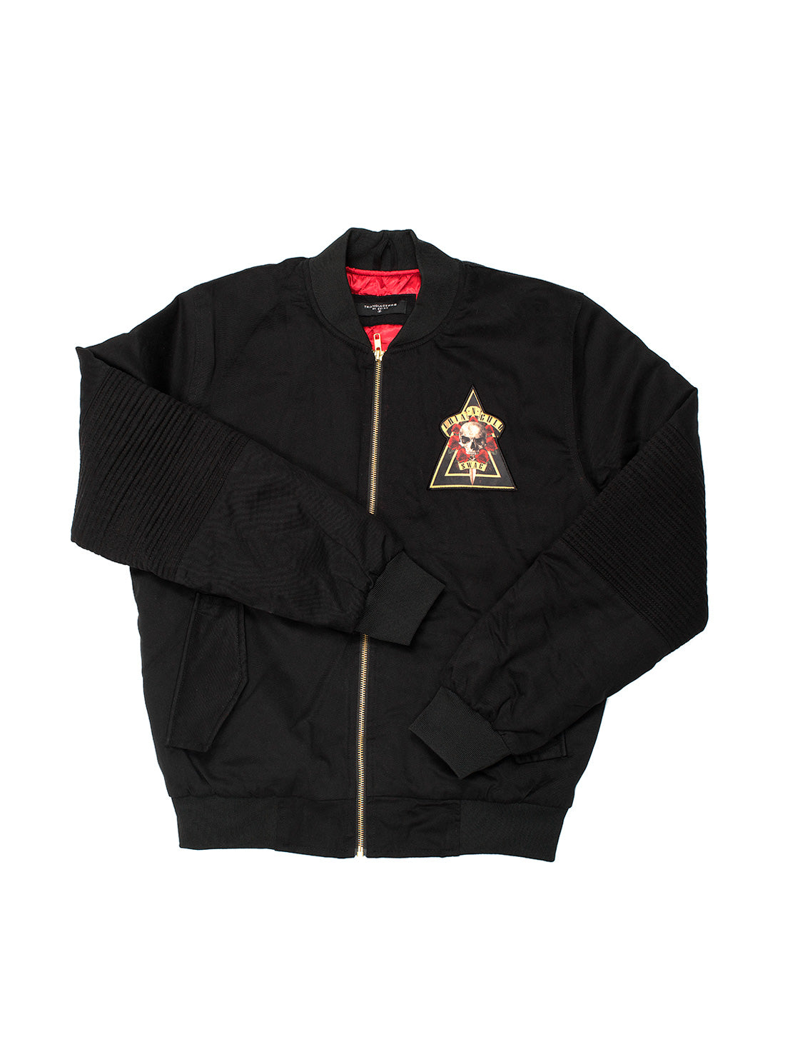 BLACK SKULL BOMBER JACKET
