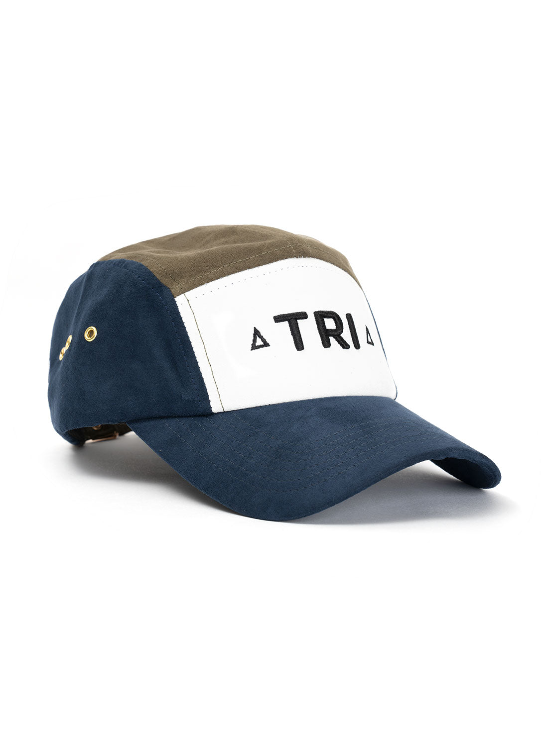 TRI 5 Panel NAVY/OLIVE SUEDE - Triangulo Swag