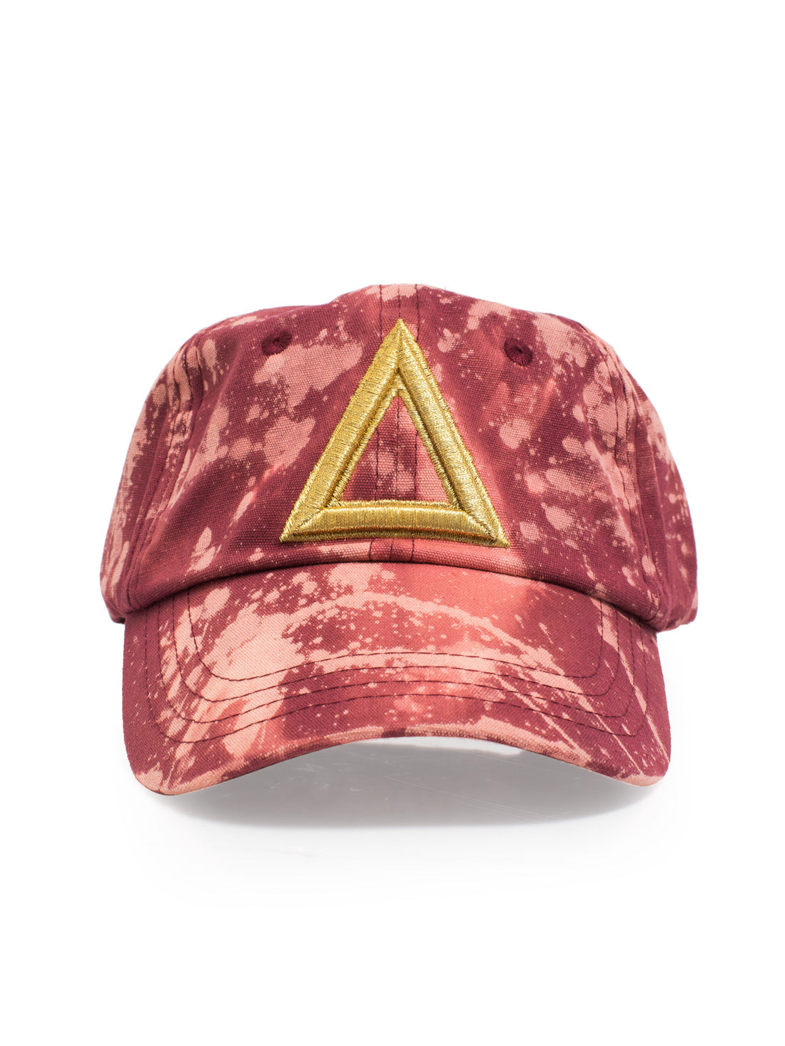 Dad Hat Bleach Burgundy