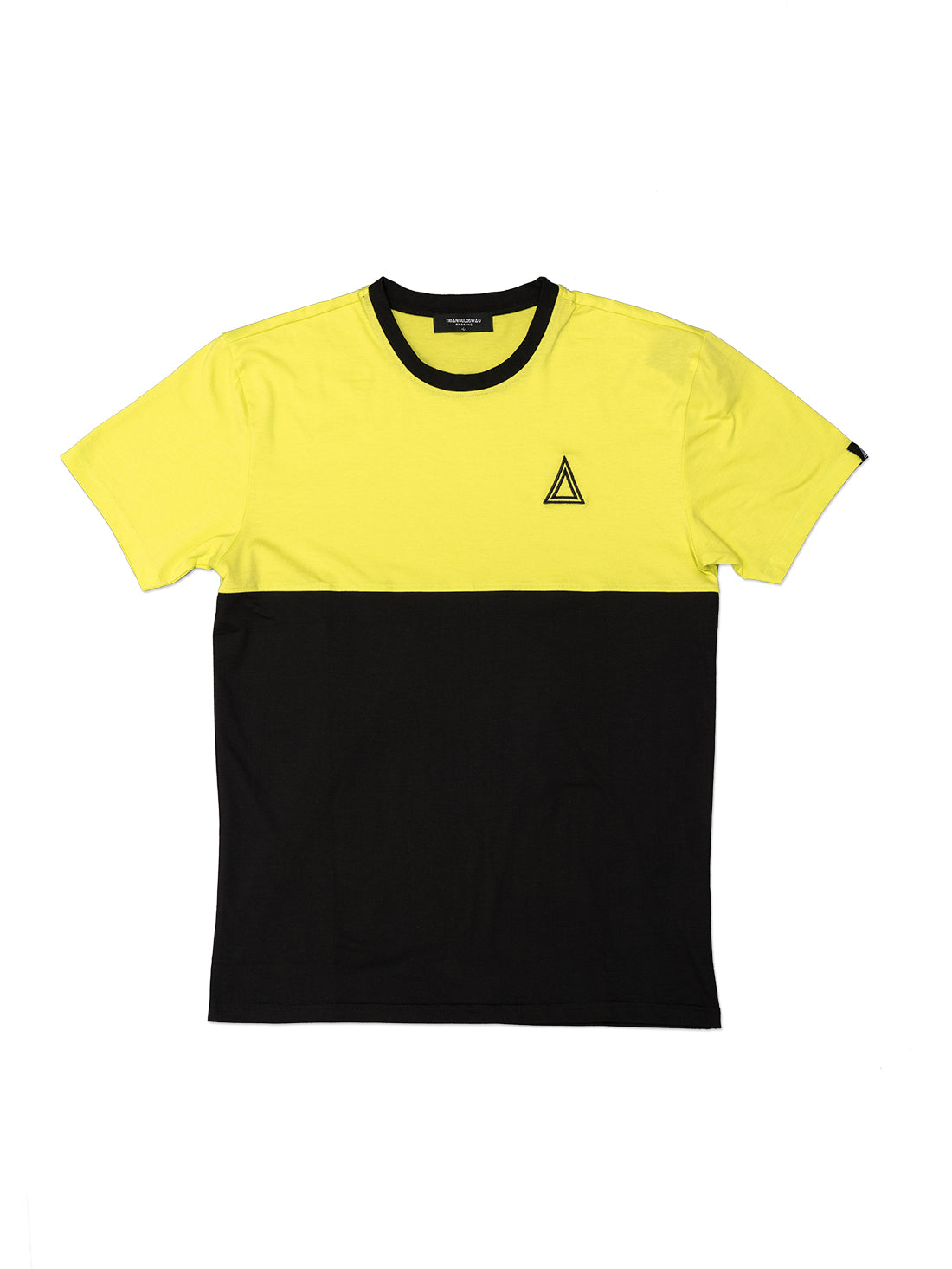 2 Tone NEON YELLOW Tshirt - Triangulo Swag