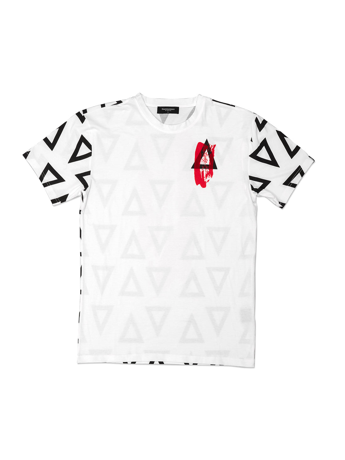 WHITE MULTI TRIANGULO TShirt