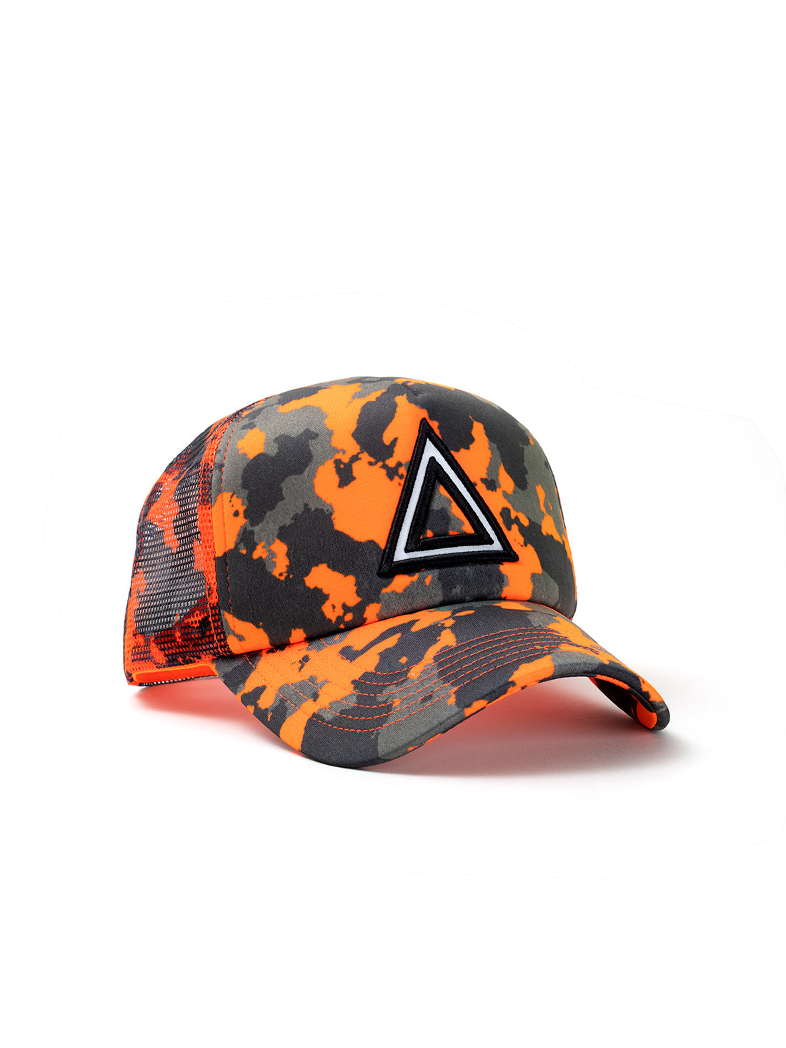 ORANGE NEON TRUCKER TRIANGULO